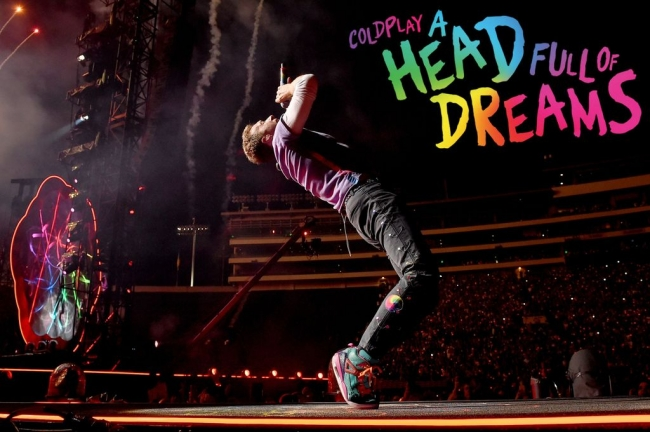 "Cine: Coldplay presenta la película ""A Head Full Of Dreams""."